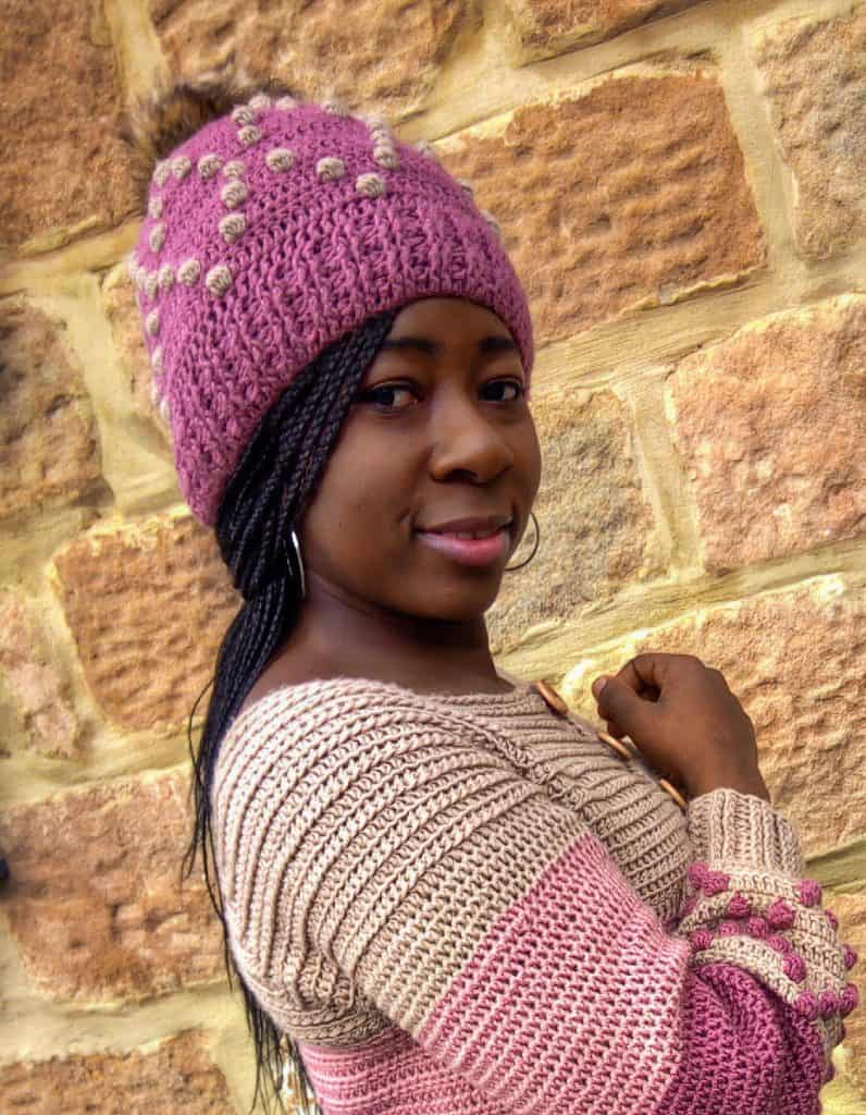 crochet Beanie and cardigan
