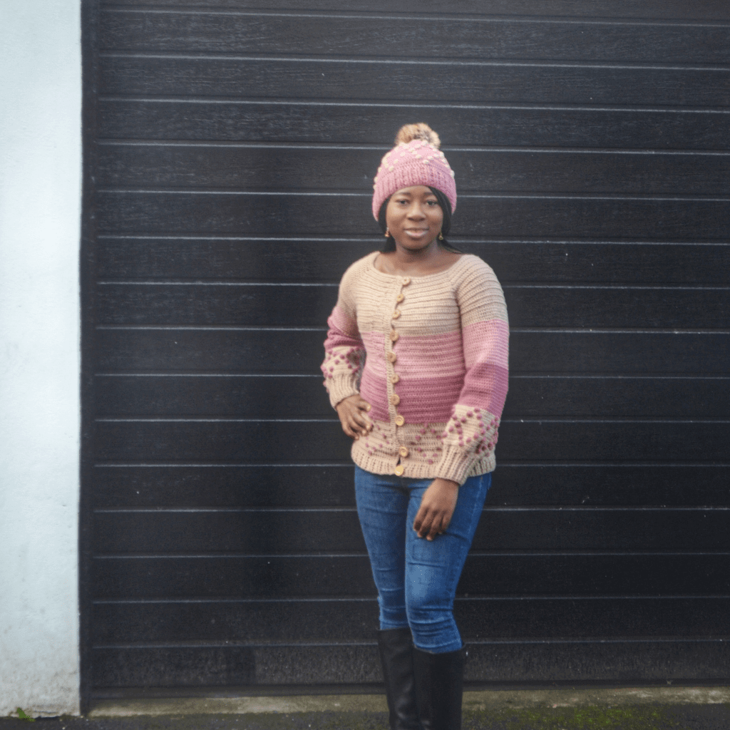 crochet beanie and cardigan pattern