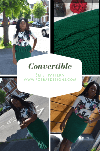 Crochet Skirt, Worn in 4 different ays