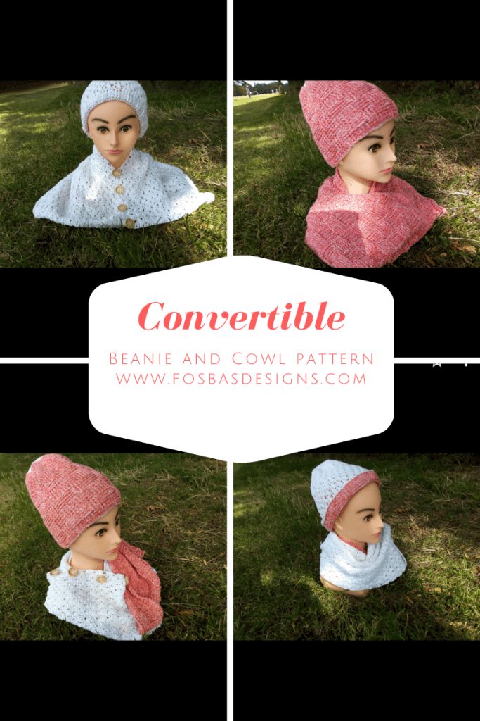 convertible beanie and cowl crochet pattern