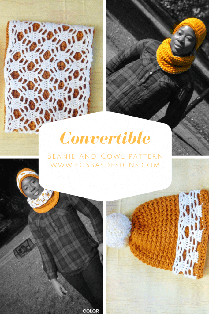 Easy convertible beanie and cowl pattern