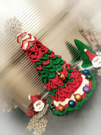 This image has an empty alt attribute; its file name is image-7.png         Crochet Christmas Tree Pattern