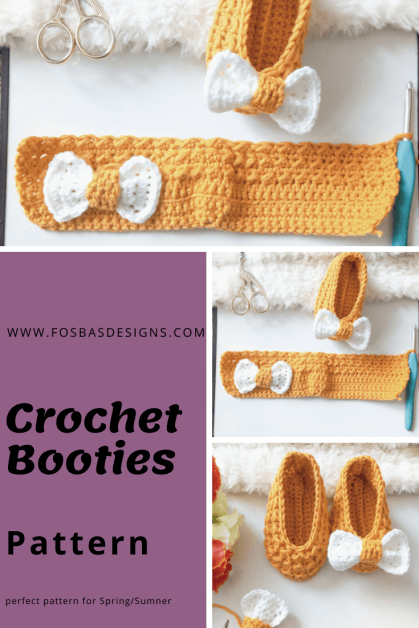 Easy Booties Baby Crochet Pattern
