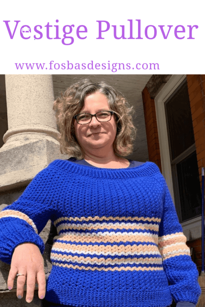 Easy Crochet Boat neck Pullover Pattern, from XS through 3XL. This sweater would be your best wear in your wardrobe.
