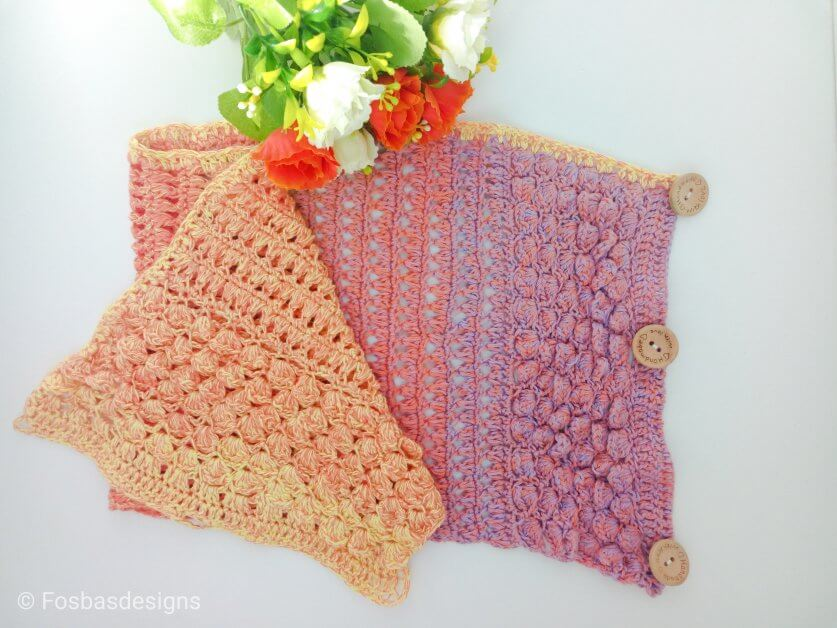 Easy Crochet neck warmer pattern perfect for Spring and Layering. Do you want a quick project? then this is a great pattern to try with less than a skein of yarn required.