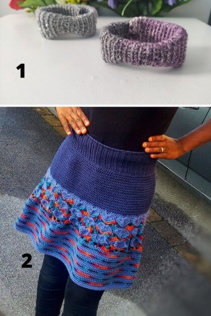 Free crochet Patterns, the Arewa Bracelet and Isabel Skirt pattern.