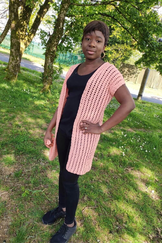 easy Crochet Kimono ardigan Pattern