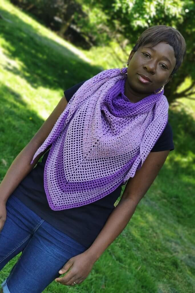 Convertible crochet shawl pattern