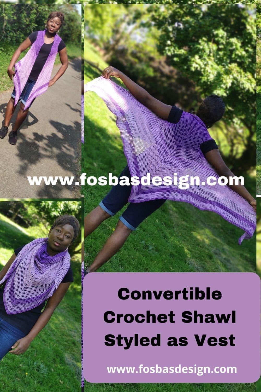 Pretty in purple shawl