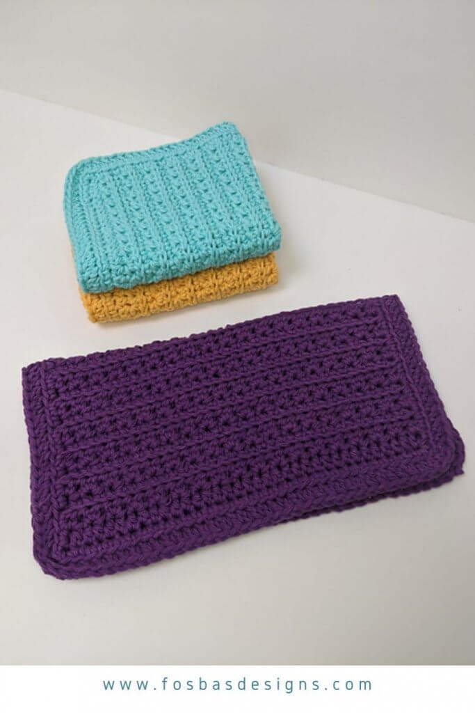 Eco Friendly Wash cloth Pattern, Part of the 27 free pattern in Summer Vibes Blog hop