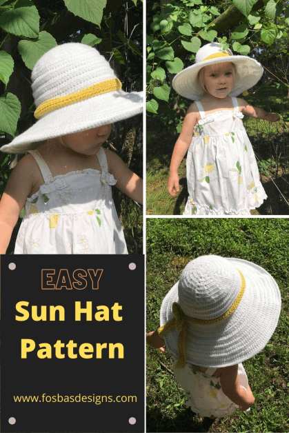 Crochet wide brim sun hat pattern