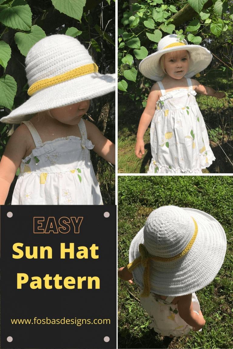 Crochet wide brim sun hat pattern