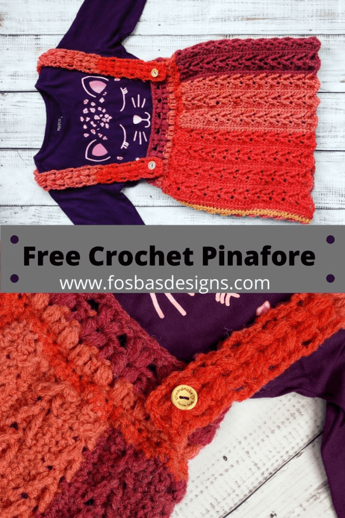 Easy crochet pinafore pattern to make for your little one or as a matching Mum and Me set. This free #crochetpinaforedress would be the perfect wear this summer