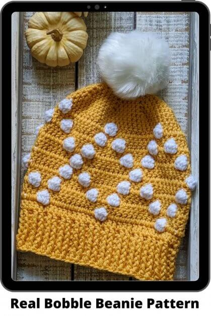 Easy Crochet Beanie Pattern - Real Bobble beanie pattern.