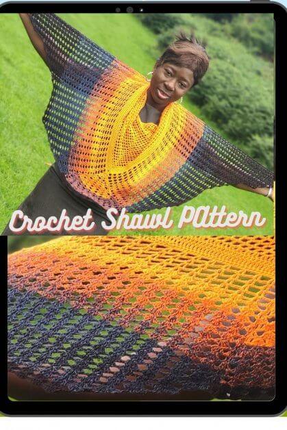 Crochet shawl Pattern for the stylish lady.