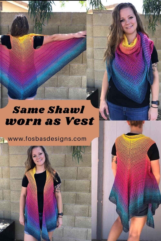 Crochet Convertible Shawl PAttern