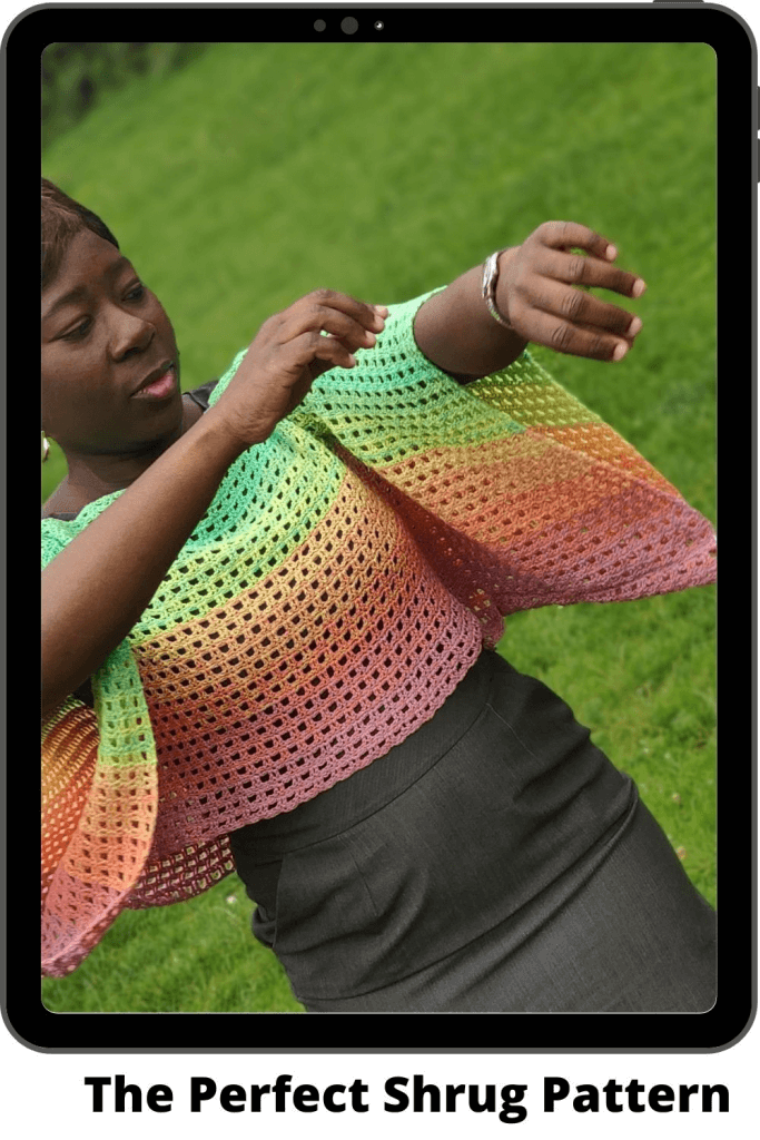 Easy crochet shrug pattern for every size!