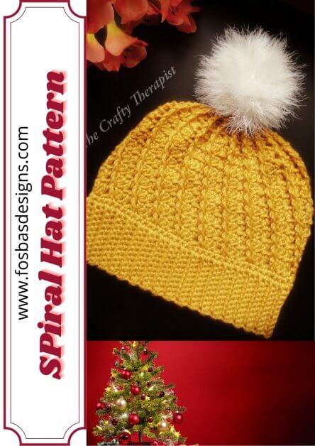 Easy crochet beanie pattern as part of Christmas gift idea Blog hop