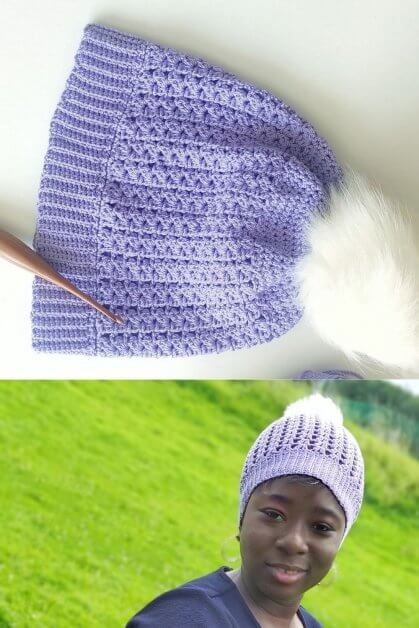 Easy Breezy Beanie Pattern , graded from Preemie size through the Adult sizes.