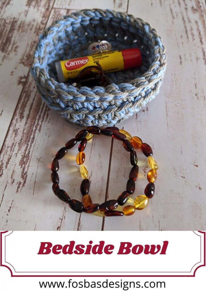 Crochet bedside bowl  pattern