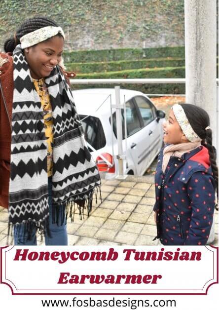 Honeycomb Tunisian Ear warmer