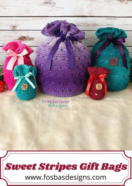 Sweet Stripes Gift Bags pattern.