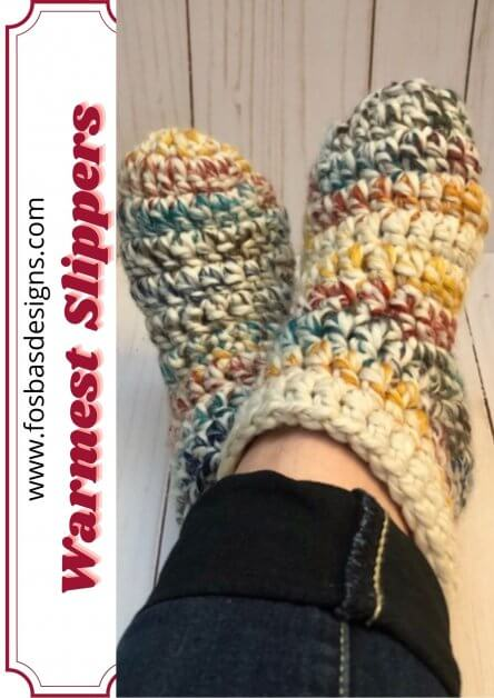 Warmest feet ever crochet slipper pattern