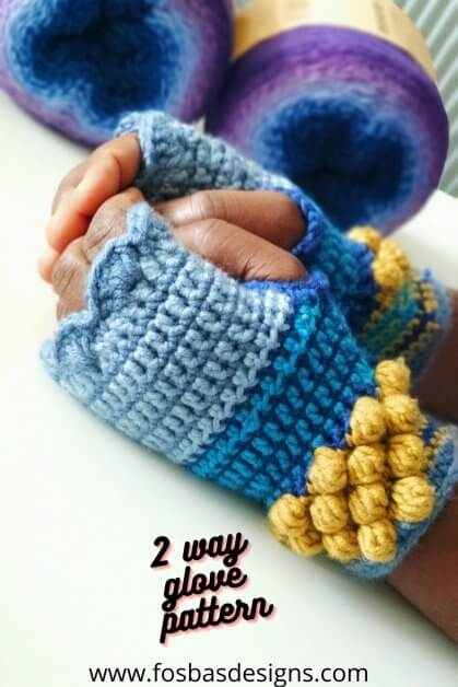 Easy crochet fingerless glove pattern.