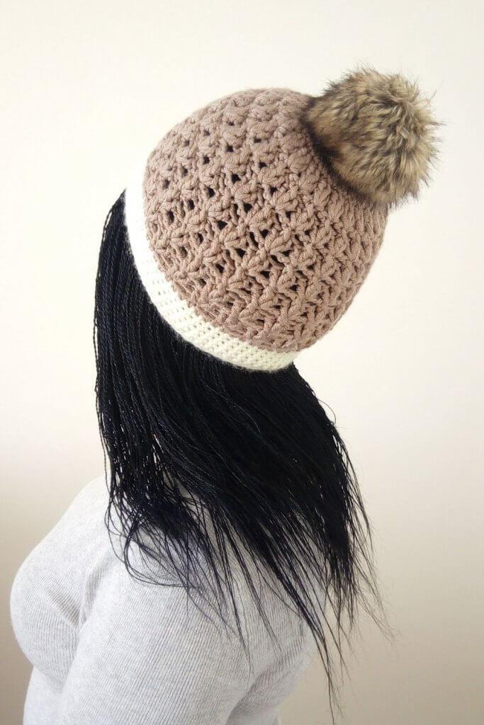 Crochet pebble beanie pattern