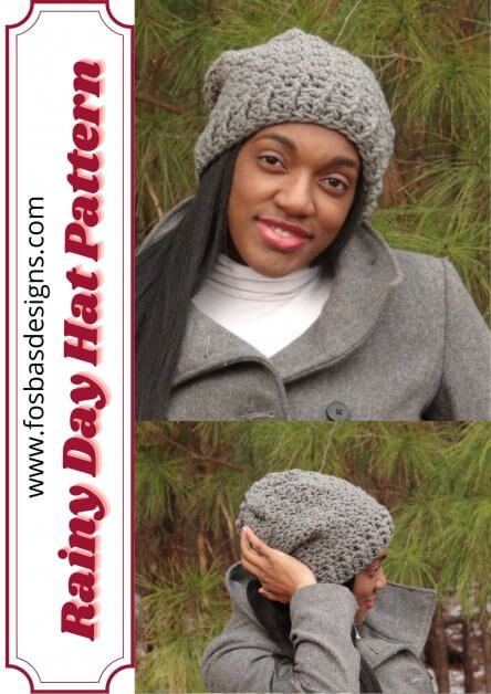 Rainy day hat pattern as part of the 40 Christmas gift ideas.