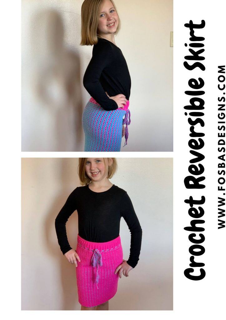 reversible crochet skirt pattern