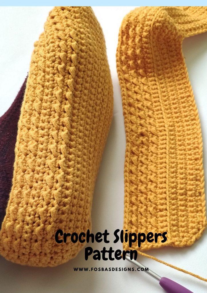 Crochet Adult Slippers Pattern