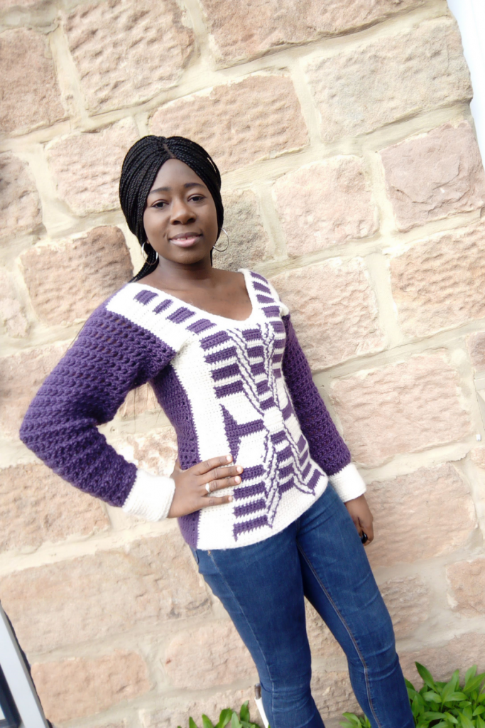 Easy crochet fitted sweater Pattern