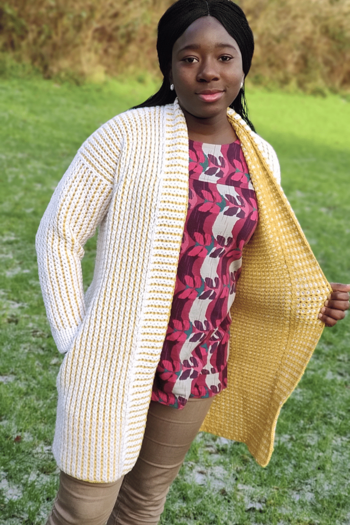 Crochet reversible cardigan Pattern
