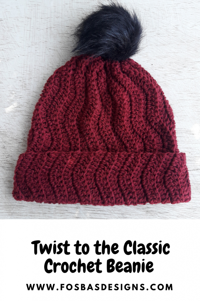 Twist to the Classic Crochet Beanie Pattern