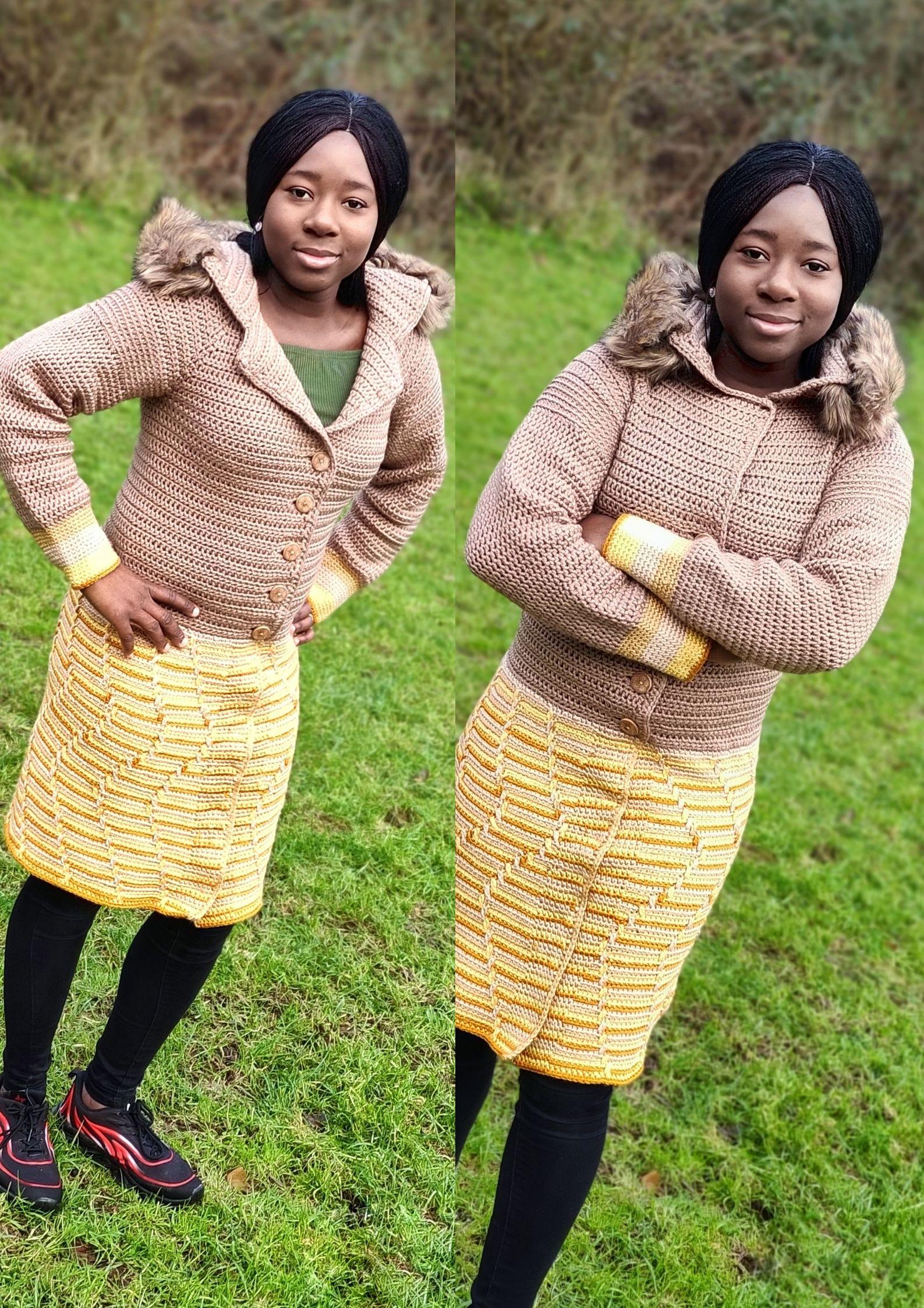 Easy crochet Coat pattern