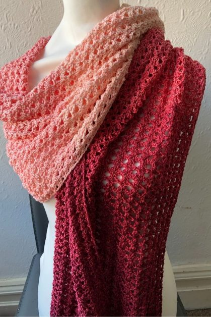One Skein Crochet wrap pattern
