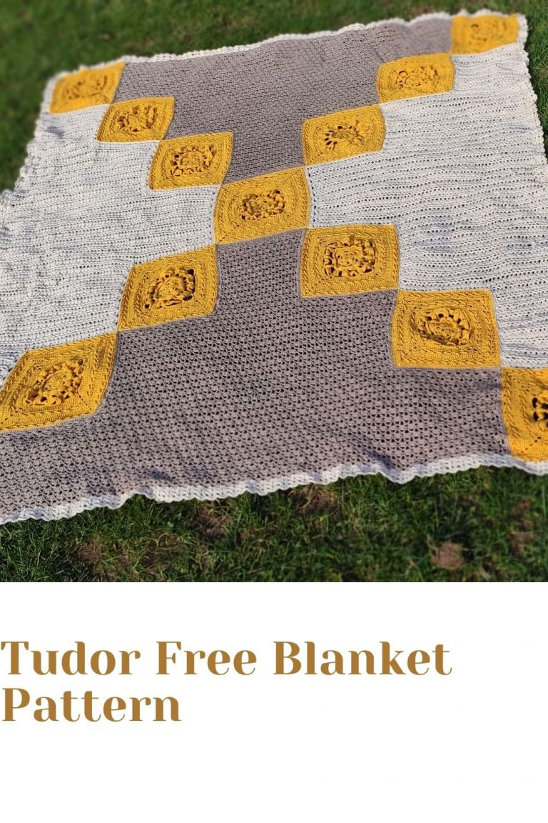Free Crochet Blanket Pattern – Tudor Rose