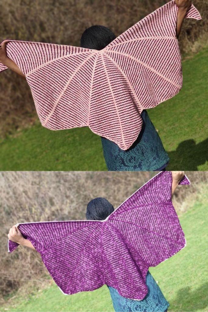 Crochet Shawl - Batwing/Butterfly shawl
