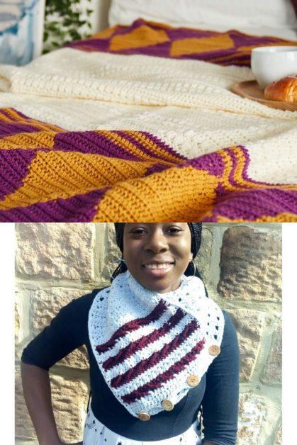 Crochet Blanket and Neck Warmer