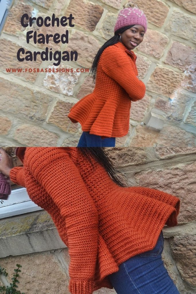 Lillian Flared cardigan Pattern