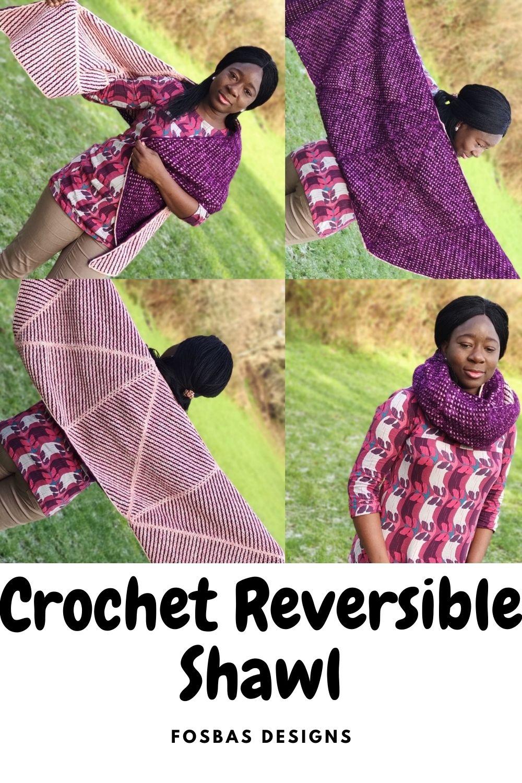 Crochet chic reversible shawl pattern
