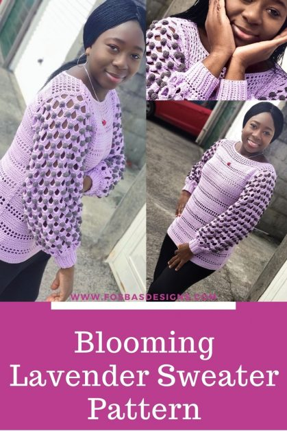 Blooming Lavender Sweater Pattern