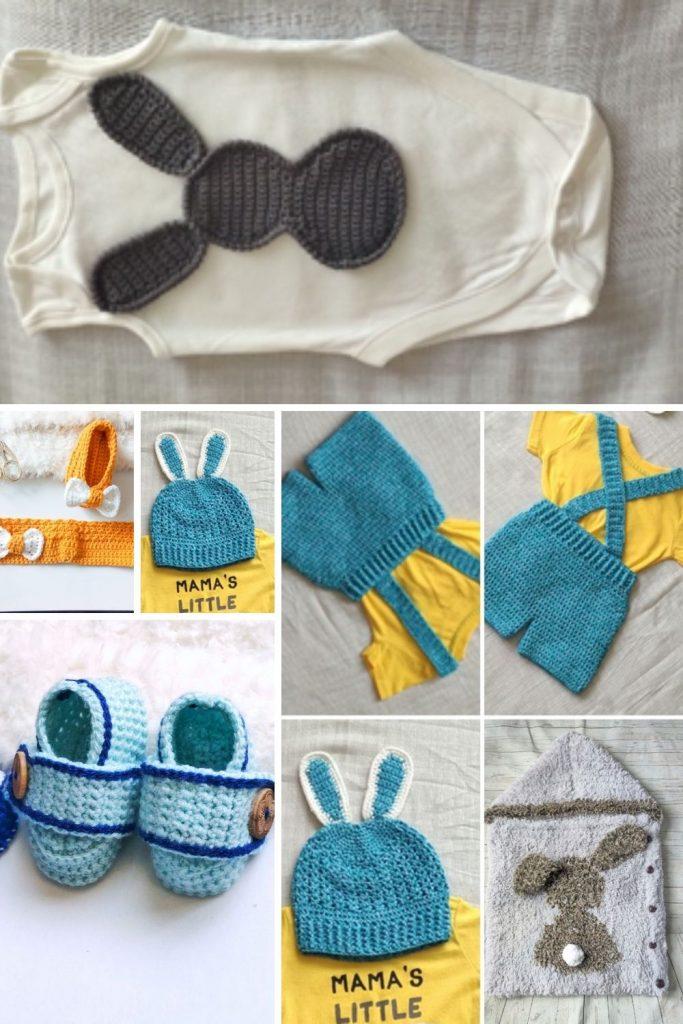 crochet bunny Baby set
