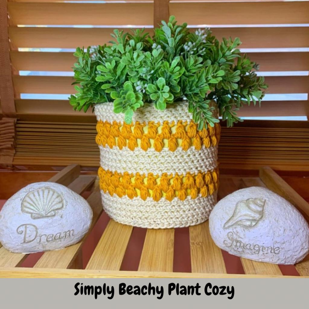 Crochet plant cozy