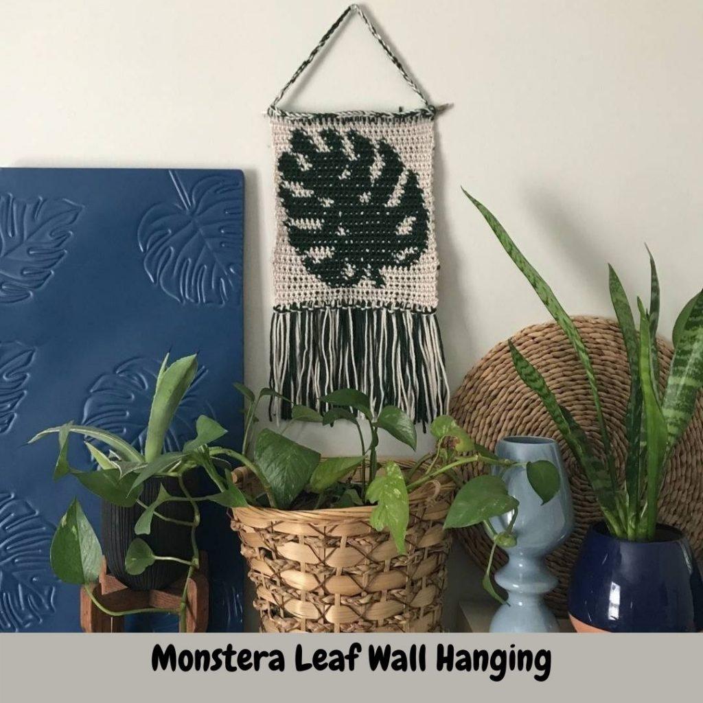 Cute crochet wall hanging