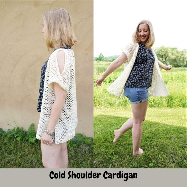 Crochet Cold Shoulder Cardigan Pattern