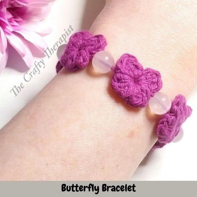 Crochet Butterfly Bracelet