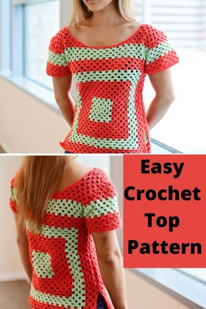 Easy, fitted granny square pattern