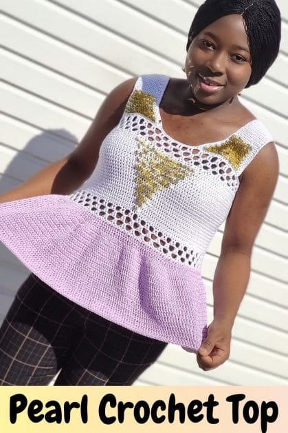 Pearl Crochet Top with Sequence
